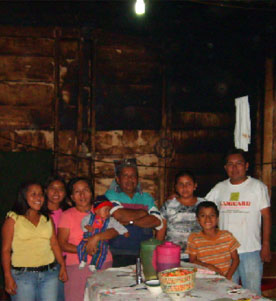 Don Polo and his family at Nueva Alianza